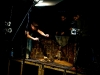 Behind the scenes with Gary Friedman (puppeteer), Cale Bain (puppeteer) and Sidat de Silva (cameraman). (Photograph by Alex Weltlinger 2008).