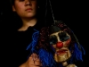 Kay Yasugi and Death puppet (Photograph by Alex Weltlinger 2008).