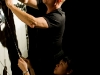 Behind the scenes with Gary Friedman (puppeteer) and Kay Yasugi (puppeteer). (Photograph by Alex Weltlinger 2008).