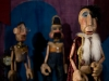 The King, the Minister and Policeman puppets (Photograph by Sidat de Silva 2008).