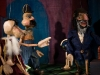 The King, Policeman and Mordechai puppets (Photograph by Sidat de Silva 2008).