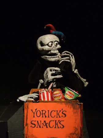Yorick the (former) court jester of Hamlet the Prince of Denmark