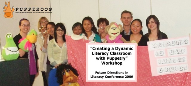Pupperoos at the Future Directions in Literacy Conference, 2009